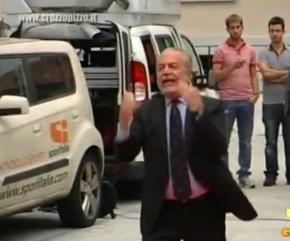 Ira De Laurentiis. Inveisce si infuria e scappa in motorino   Napoli da  Vivere