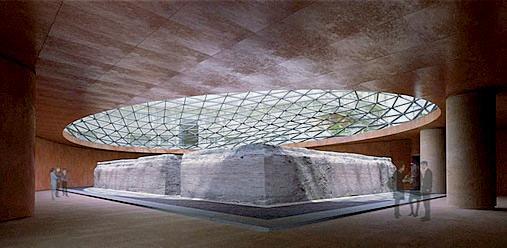 Tempio romano ritrovato durante gli scavi della stazione della metro Duomo