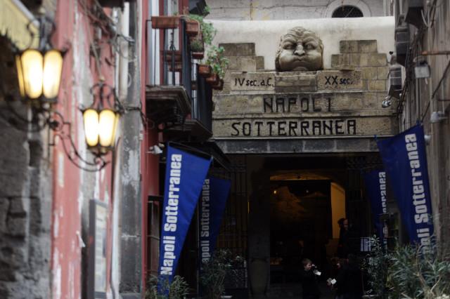 L'ingresso della Core Gallery è a Napoli Sotterranea.