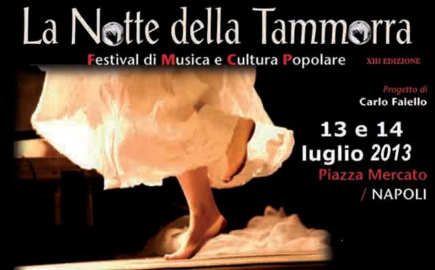 notte della tammorra a Napoli