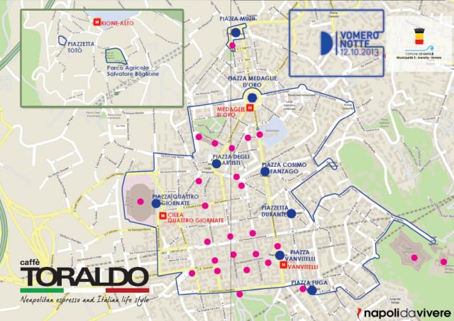 mappa vomero notte 2013