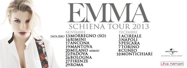 date tour emma marrone novembre dicembre 2013