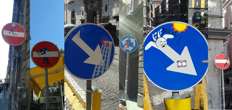 cartelli stradali clet napoli