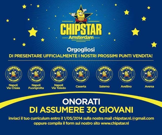 nuovi punti vendita chipstar napoli