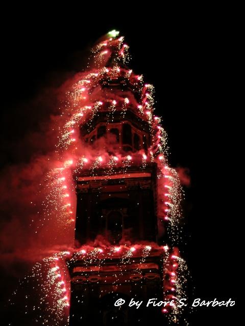 incendio del campanile di piazza mercato