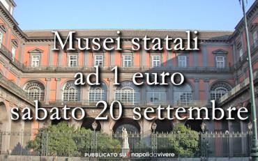 Musei statali ad 1 euro sabato 20 settembre 2014