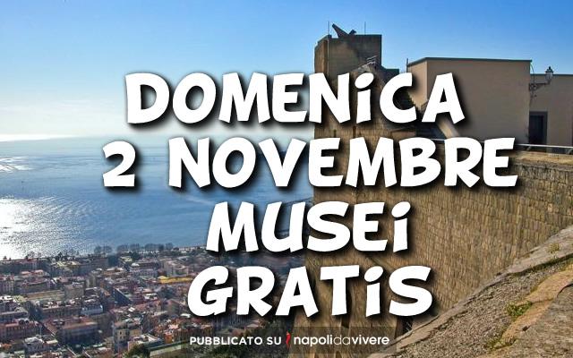 domenica 2 novembre musei statali gratis