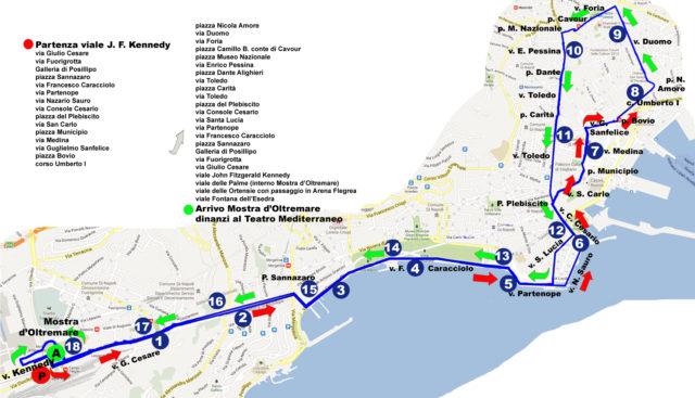 percorso half maraton napoli 2015