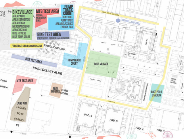 mappa bike festival mostra d oltremare