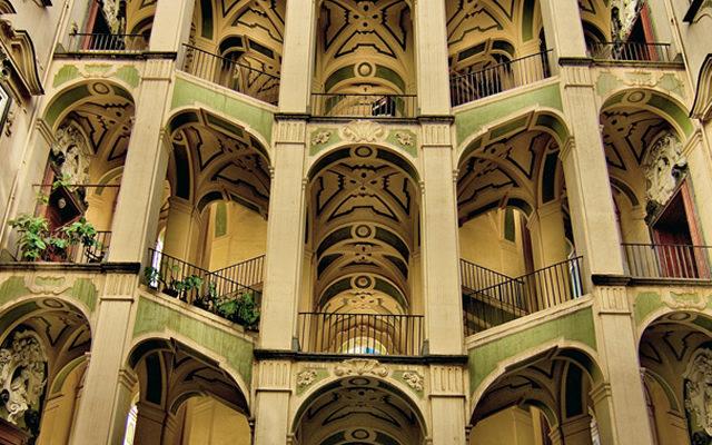 Lo scalone del palazzo dello Spagnolo
