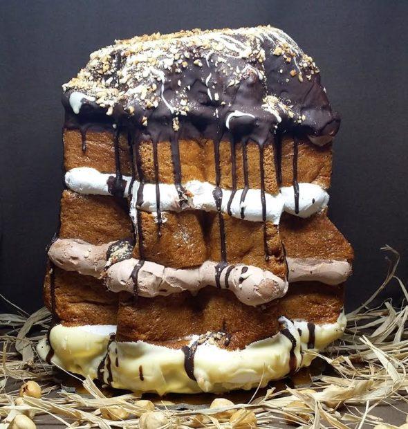 pandoro farcito con musse gelatosità