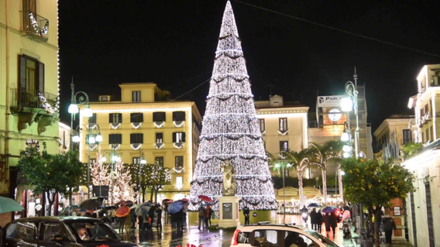 Piazza Tasso a Sorrento a Natale