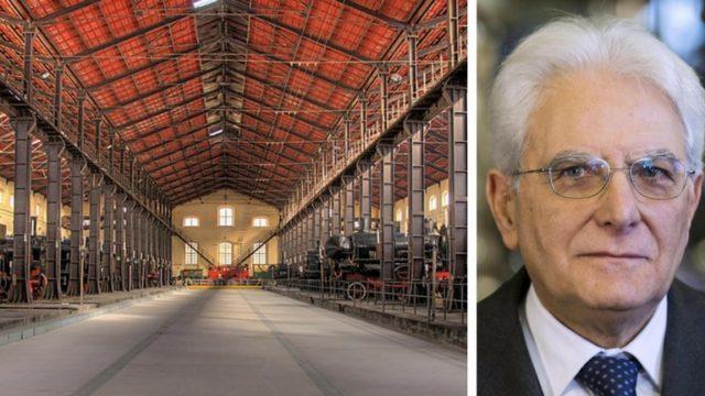 Mattarella al Museo ferroviario di Pietrarsa: