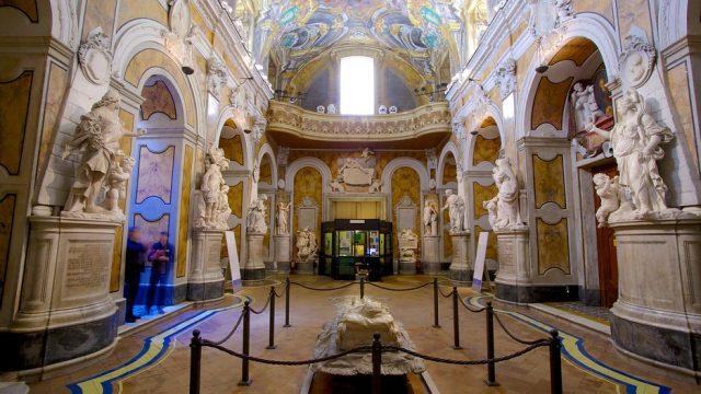 Il cristo velato a cappella Sansevero a Napoli