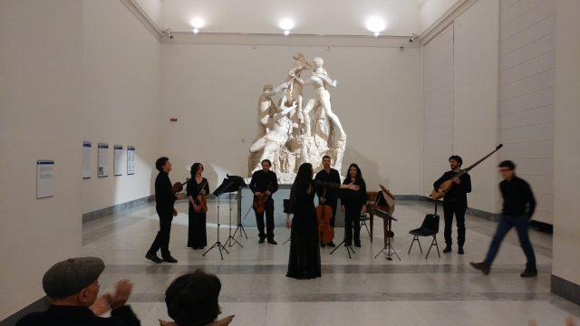 La sala del Museo Archeologico di Napoli
