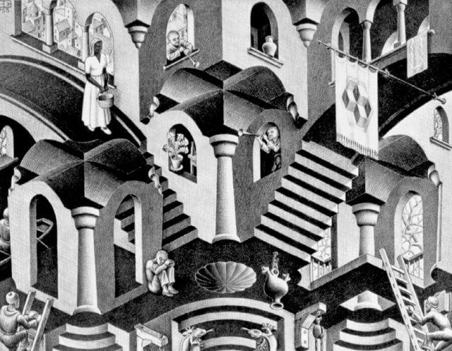 Mostra retrospettiva su Escher al PAN di Napoli