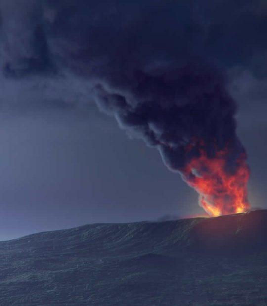 Ricostruzione 3D dell'eruzione del Vesuvio del 79 d.c al MAV di Ercolano