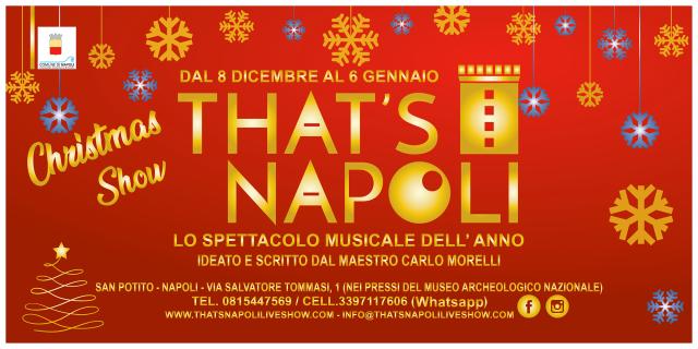 Locandina That's Napoli Christmas Show