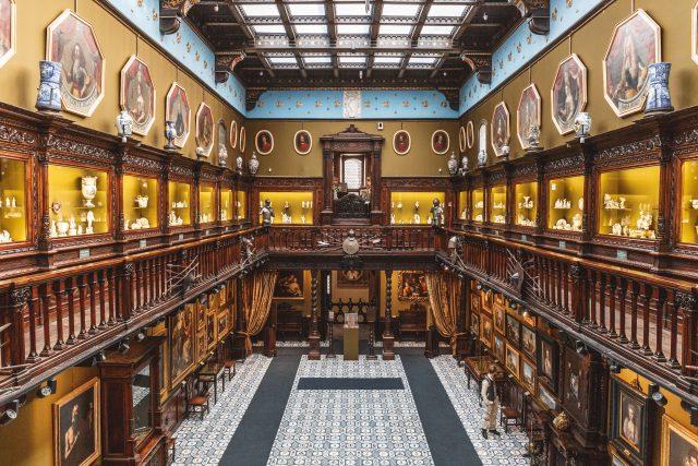 la sala principale del museo finanzieri di Napoli