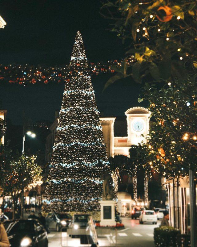 Le luminarie di Natale a Sorrento
