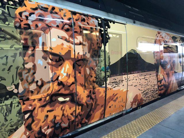 i treni dell'arte della circumvesuviana di napoli