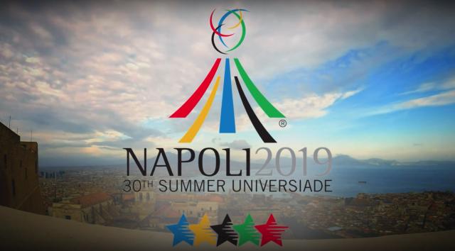 Logo delle Universiadi 2019 a Napoli