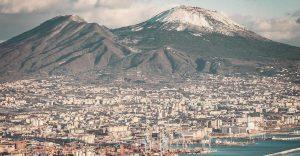 Vesuvio innevato Napoli