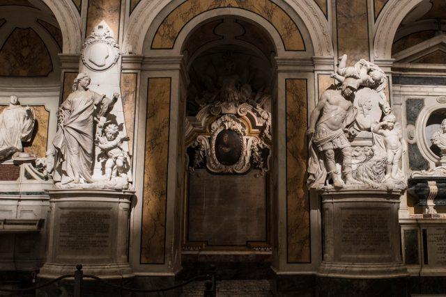 Colonne di cappella Sansevero a Napoli