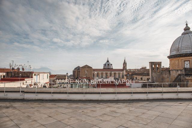 La terrazza del Museo Madre a Napoli