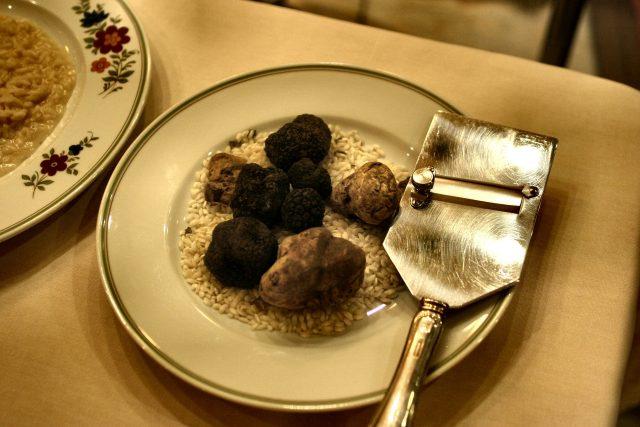 un piatto con tipologie di tartufo