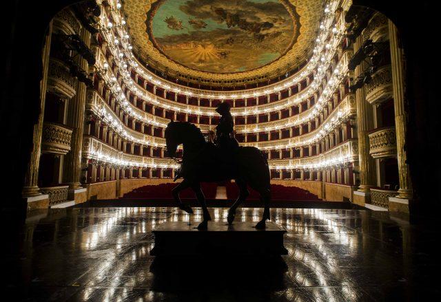 Il teatro di San Carlo a Napoli visto dal palco