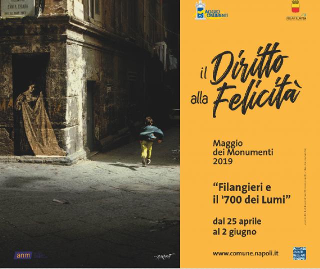 Locandina Maggio dei monumenti 2019 a Napoli