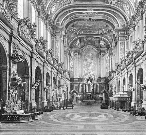 chiesa di santa chiara a Napoli prima dei Bombardamenti