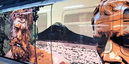 I Treni dell'Arte arrivano alla Circumvesuviana di Napoli