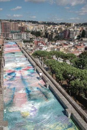 Un Quadro di 1500 metri sui Terrazzi di Napoli